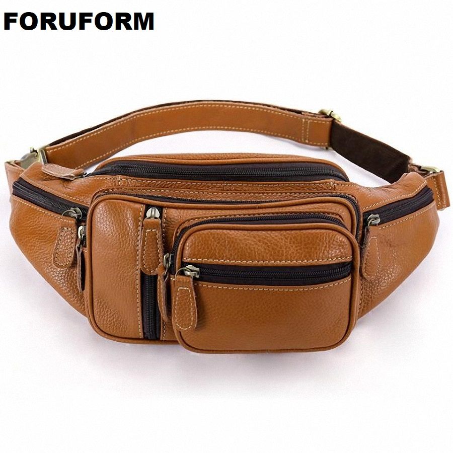 Genuine Leather Waist Packs Fanny Pack Belt Bag Phone Pouch Bags Travel Waist Pack Male Small Waist Bag Leather Pouch LI-2292 genuine leather fashion men waist belt bags small fanny pack phone pouch wallet brand messenger shoulder bag travel waist pack