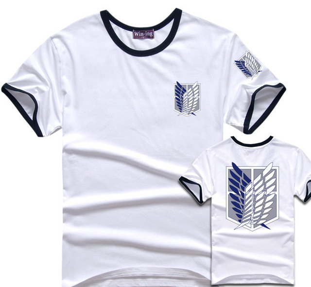 Attack On Titan Cotton T-Shirt Survey Corps Logo