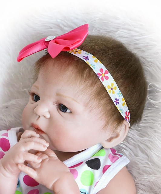 Reborn Doll with Soft Real Gentle Touch Silicone Vinyl Lifelike Doll 4