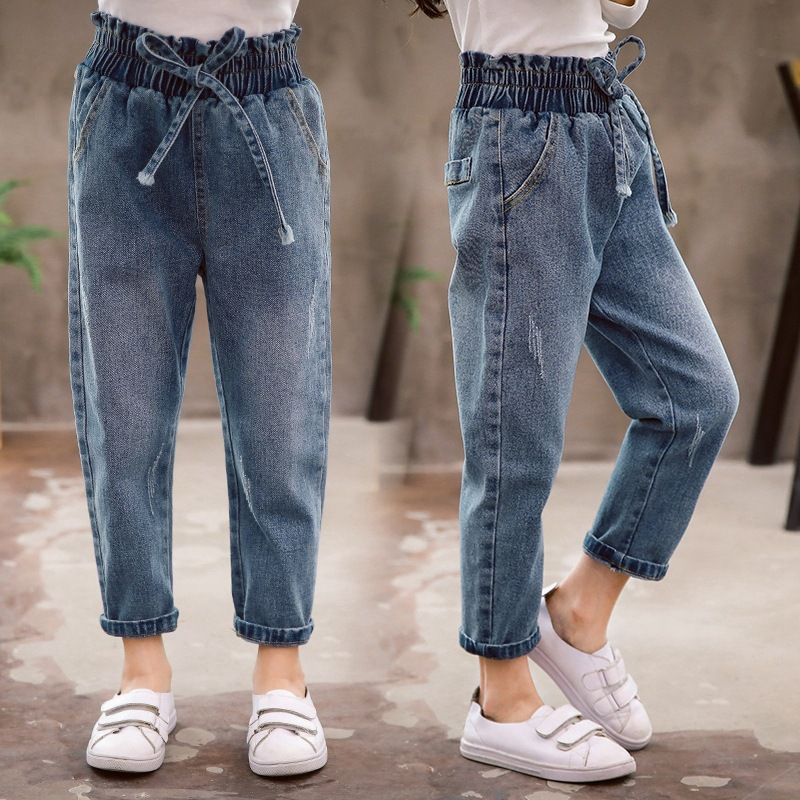 Teenage Girls Jeans Blue Fashion School Pencil Pants Baby Girls Trousers Jeans For Kids 2019 Spring Children Pants 10 12 Years Pants Aliexpress