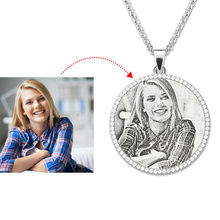 Photo Engraved Necklace Sterling