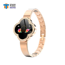 MATEYOU beautiful outstanding sports waterproof heart rate sleep monitor zinc alloy shell lady color screen smart bracelet