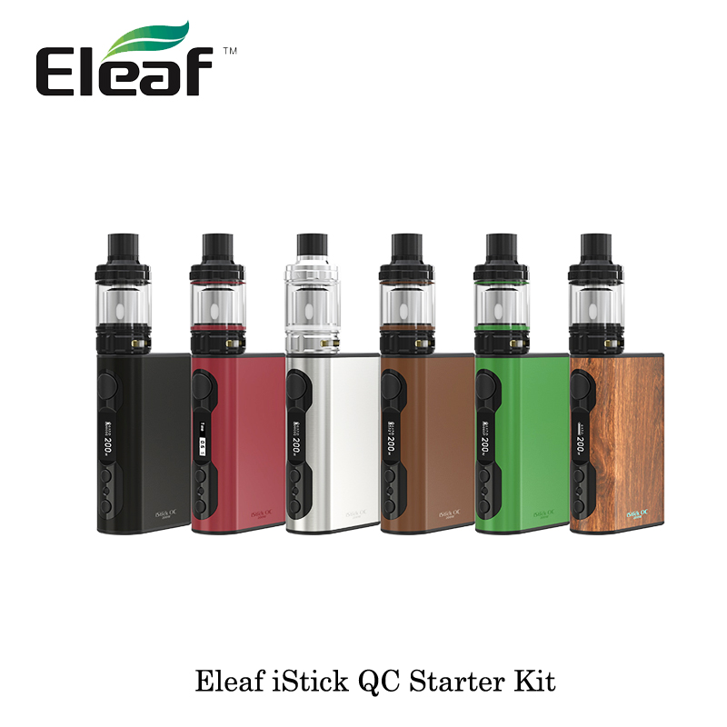 цена на Electronic Cigarette Eleaf iStick QC 200W Melo 300 Starter Kit Box Mod built-in 5000mah 3.5ml Melo 300 Tank Atomizer E Cigarette