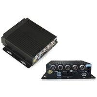 Universal MINI Realtime SD Car Mobile DVR 4CH Video/Audio Input Remote Control 4 Channels Vehicle AHD DVR Encrption Recorder