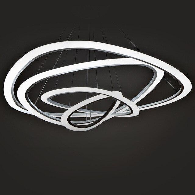 Moderne Led Pendelleuchten Für Wohnzimmer Esszimmer 3/2/1 Ringe Kreis Acryl  Runde Led