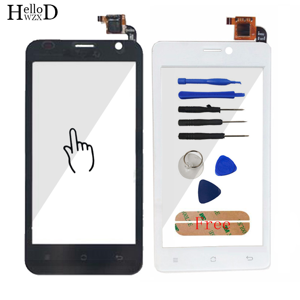4.5 For Prestigio MultiPhone PAP 3450 PAP3450 Duo Smartphone Front Touch Glass Screen Digitizer Panel Lens Sensor Tools Adhesive