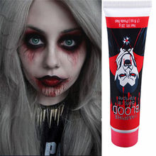 1 Pc 35G Kunstmatige Eetbare Nep Bloed Plasma De Film En Televisie Rekwisieten Makeup Cosplay Make-Up Halloween Kostuum Party(China)