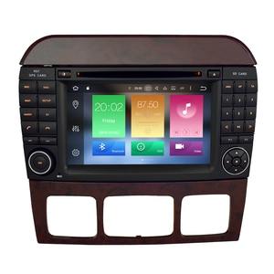 """Image 2 - 7 """"Android10.0 reproductor de DVD del coche de navegación GPS para Benz SCL clase S320 S350 W220 W215 CL600 1998 2005 Audio Video Radio Multimedia"""
