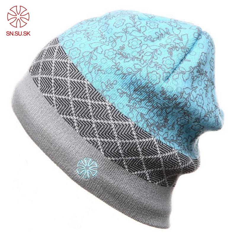 SK Winter Brand Warm Caps Snowboard Winter Hats Skating Lot Skullies Beanies  Ski Hat For Men Women Hip Hop Cap 34f23c2ba31