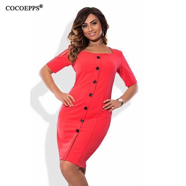 2017 женщины мода плюс размер элегантный кнопка dress лето большой размер office dress casual большой размер вечер мать dress 6xl