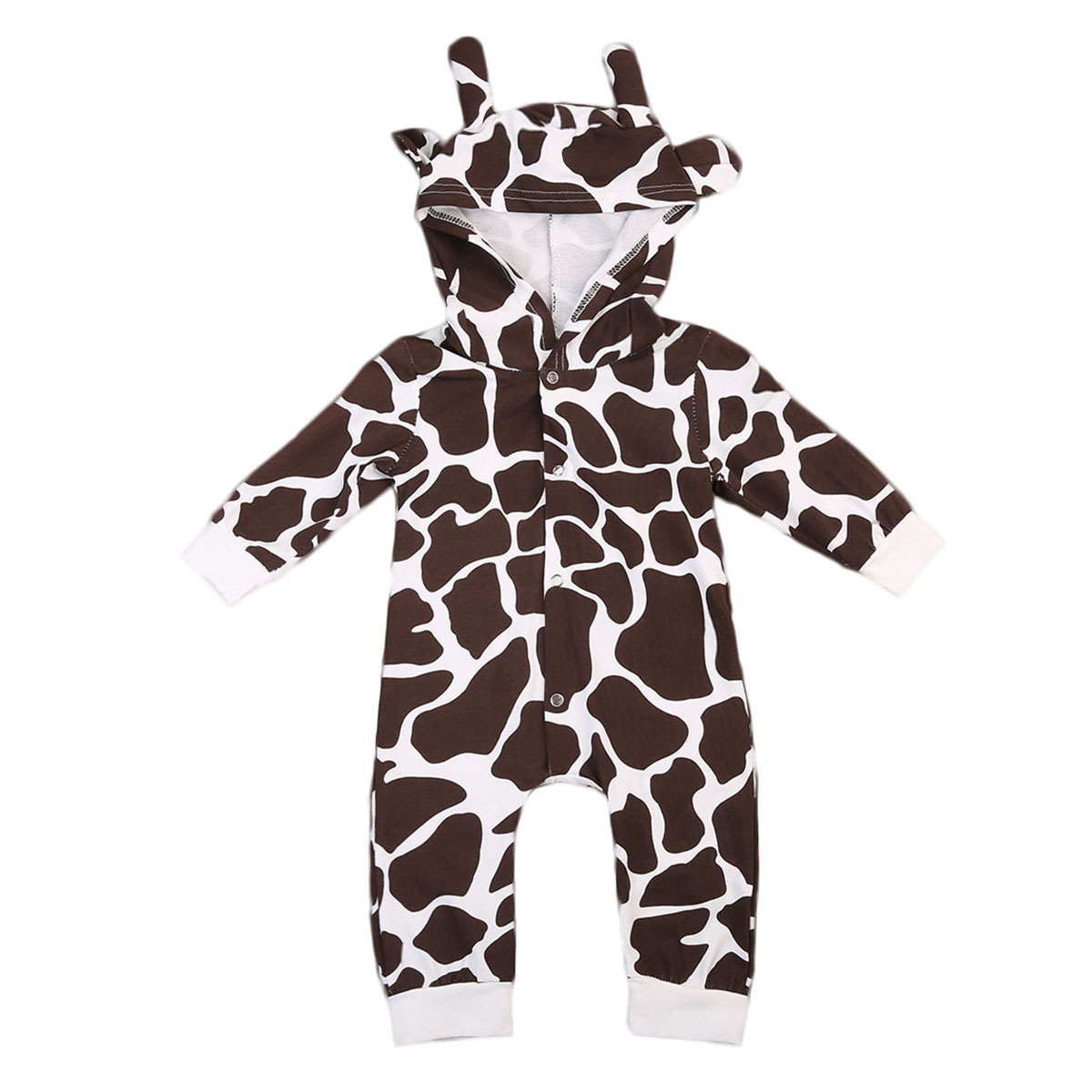 Babies Milk Cow Hooded Rompers New Toddler Infant Baby Girl Boy 3D Ear Romper Cute Joli Playsuit Outfits Costume Clothes Pjs