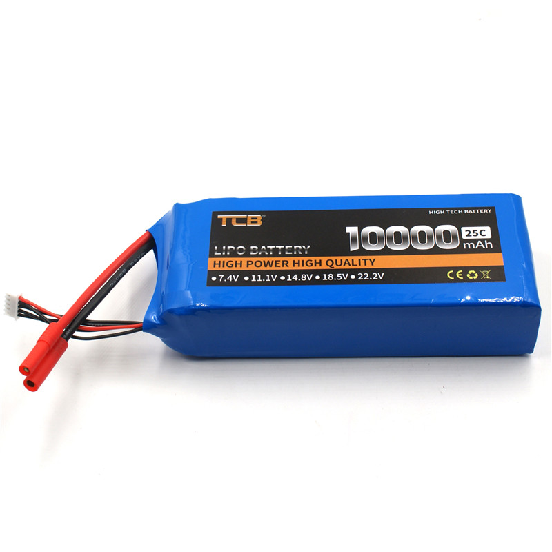 TCB RC LiPo Battery 11.1V 10000mAh 25C 3s FOR RC Airplane Drone Quadrotor Helicopter Car Boat Li-ion batteria AKKU 1s 2s 3s 4s 5s 6s 7s 8s lipo battery balance connector for rc model battery esc
