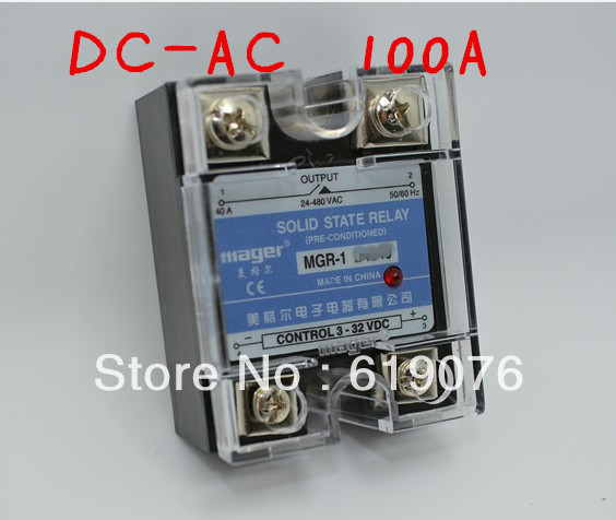 Mager  SSR 100A  DC-AC Solid state relay  Quality Goods  MGR-1 D4100 mager genuine new original ssr 80dd single phase solid state relay 24v dc controlled dc 80a mgr 1 dd220d80