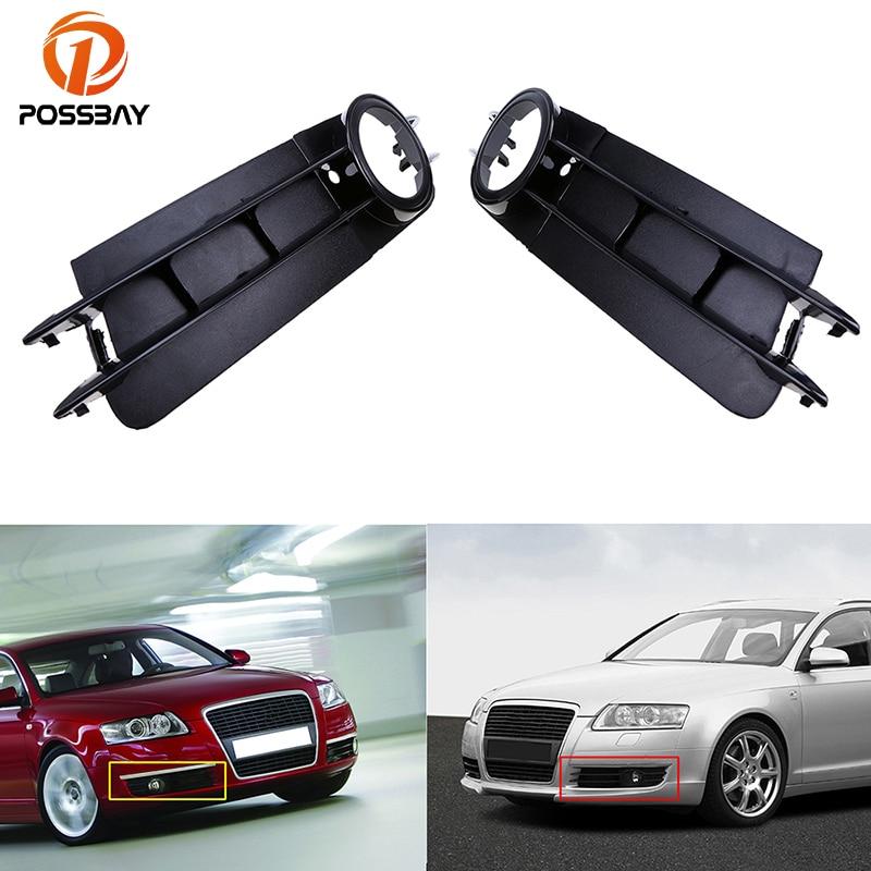 POSSBAY Lower Bumper Fog Light font b Lamp b font Grille Grill Cover for Audi A6