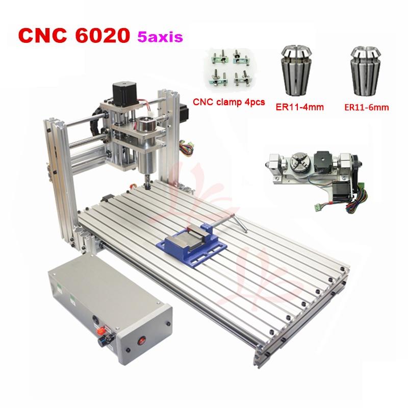 DIY mini 6020 en métal CNC bois Routeur ER11 CNC machine De Gravure USB port 60x20 cm