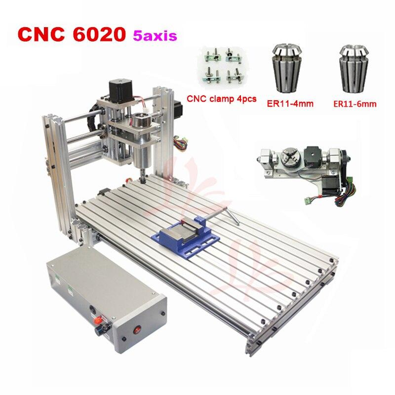 ER11 DIY mini 6020 de metal CNC Router madeira máquina de Gravura do CNC porta USB 60x20 cm