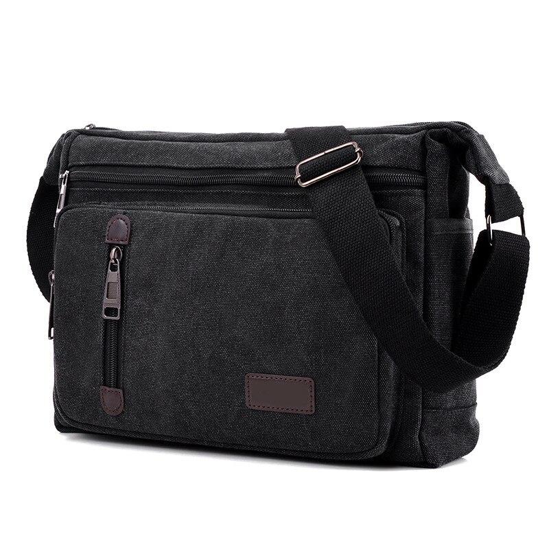 2016 jofeanay mannen Messenger Bags Canvas Schouder Hand Tas Mode Mannen Business Crossbody Tas Afdrukken Korte Reizen Handtas - 5