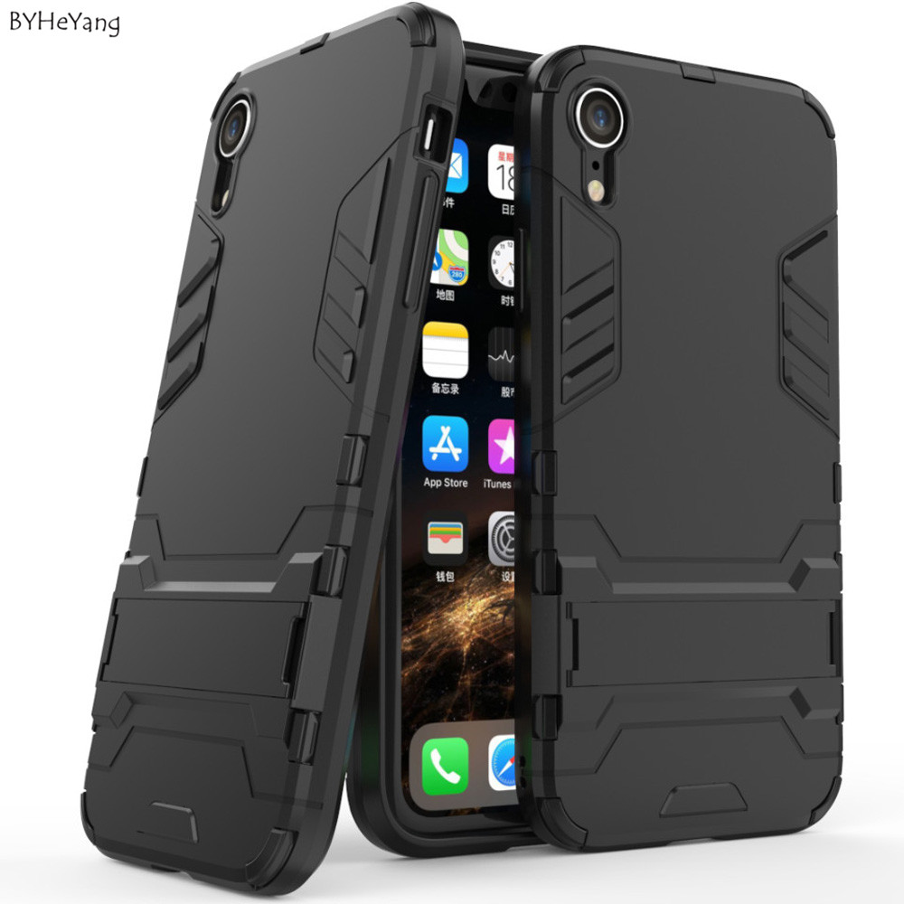 Case For iPhone 8 7 6 6S Plus Hybrid Shockproof 3D Cool Armor Rugged Hard Case For iPhone X XS MAX XR 5 S 5s SE Stand Cover Case image