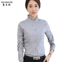 New Fashion Design Women Plus Size Sexy V Neck Long Sleeve Blouses Brand Ladies Shirt Office