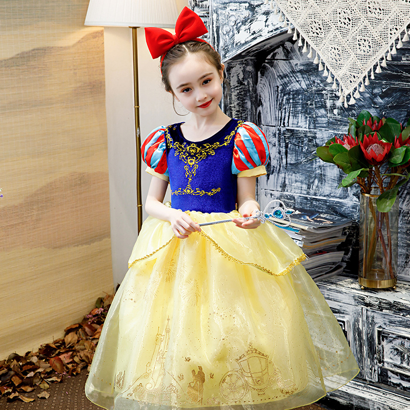 GIRLS TODDLERS SNOW WHITE PRINCESS FANCY DRESS COSTUME FAIRY TALE  2-4 YEARS