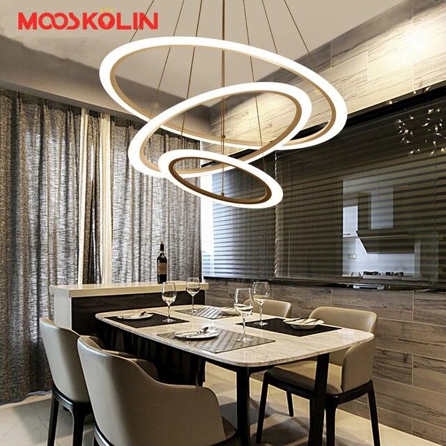 3/2/1 Ringe Kreise Moderne Acryl LED Pendelleuchten Für Esszimmer Wohnzimmer  Küche Lichter