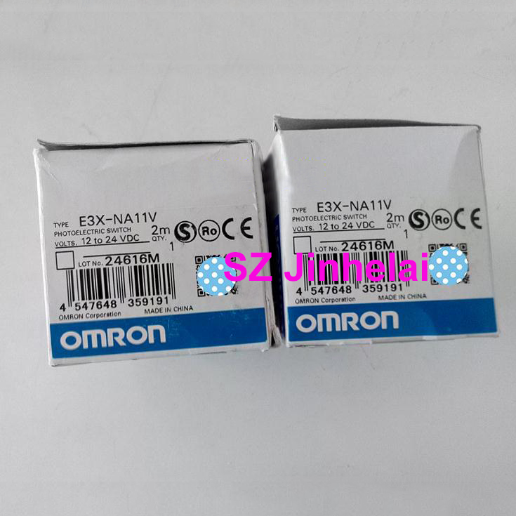 Authentic original E3X-NA11V OMRON Photoelectric switch  12-24VDC   2MAuthentic original E3X-NA11V OMRON Photoelectric switch  12-24VDC   2M