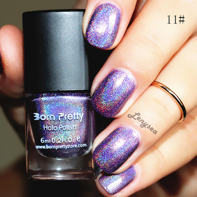 Born pretty 6 ml holographic Holo brillo Esmaltes de uñas barniz ...