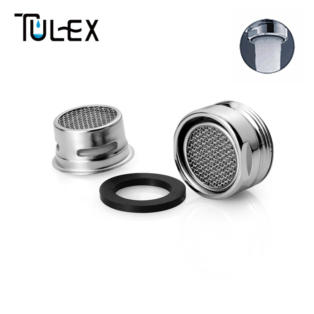 TULEX Bathroom Accessories Faucet Aerator 20MM Male Thread Tap SUS304 Full Flow Spout Bubbler Filter Stainless Steel For Kitchen