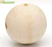 8SEASONS 20PCs Natural Ball Wood Spacer Beads 30mm(1-1/8