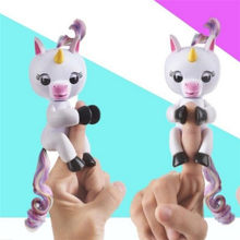 High Quality Funny Cute Fingerling Interactive Baby Unicorn Toy Smart Fingers Llings Smart Induction Toy Kids Toys Gifts(China)