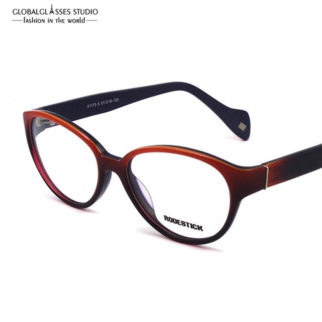 Moda ojo de Gato Mujeres Degradado de Color de Montura De gafas de Acetato Marco de Los Vidrios de Eyewear RX Spectacle Estudiantes Vintage disponibles X1170