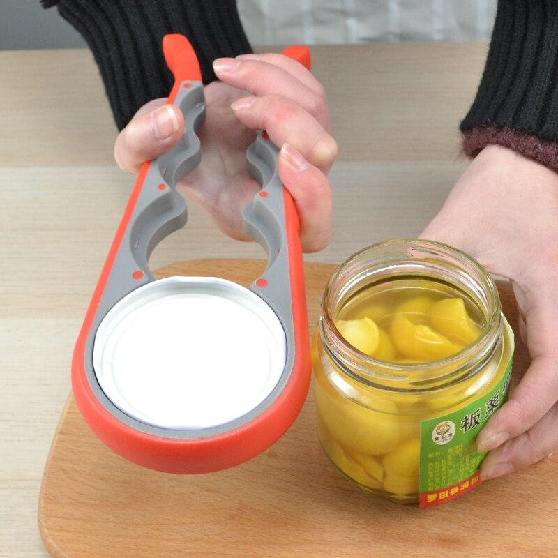 hoomall 4 in 1 can opener lid screw jam bottle opener and non-slip twist cap bottle opener
