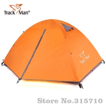 Trackman Camping Tent 2 Person One Bedroom Double Layers 3 Season Tent Outdoor Tent aluminum pole & fiber glass pole