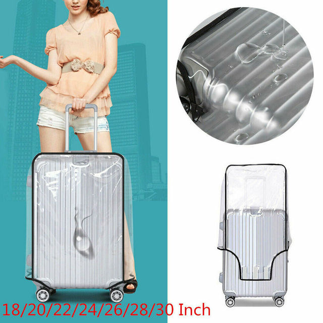 Universal PVC กันน้ำกระเป๋าเดินทางกระเป๋าเดินทางป้องกัน Anti Scratch โปร่งแสงกระเป๋าเดินทาง