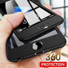 360 Degree Protection Full Cover Phone Case iPhone X XS Max XR Shockproof For 5 5S SE 6 6S 7 8 Plus With Glass