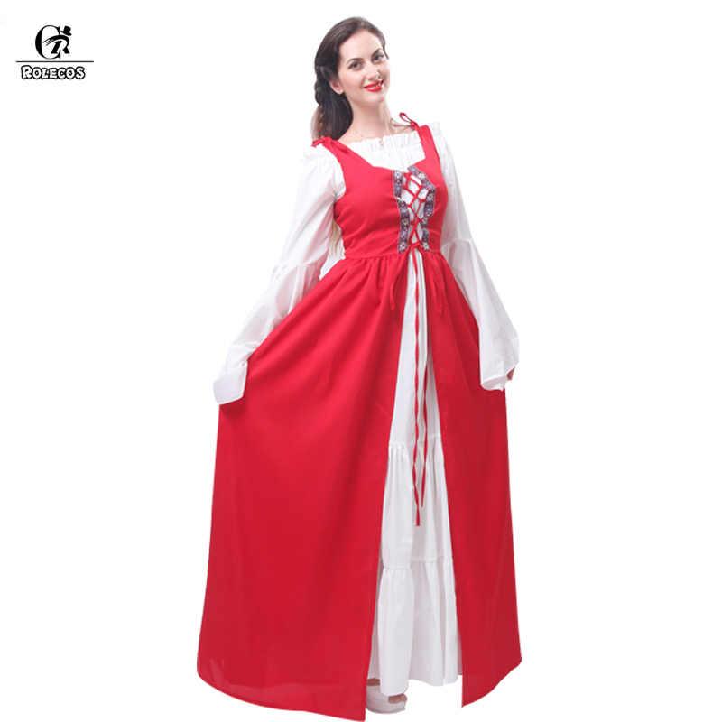 ROLECOS женский стиль ренессанс викторианский средневековая готика длинные платья для Хэллоуина Бальные Халаты Костюмы готические вечерние платья лолита