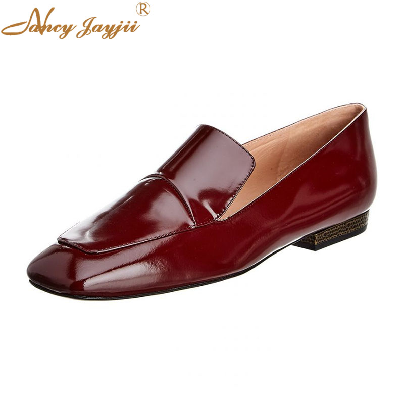Women Ladies Flats Adult Female Shoes Slip On Square Toe -3824