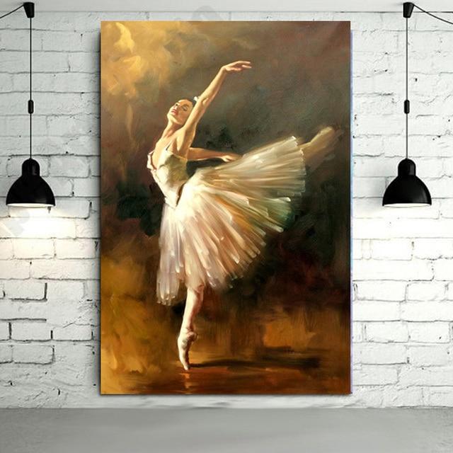 Handgemalte moderne ballerina t nzerin lgem lde spanische t nzerin malerei wandbilder f r - Spanische dekoration ...