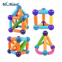 NUKied Kids Bars Metal Balls Magnet Toy 25PCS Magnetic Building Block Construction Toys For Children DIY