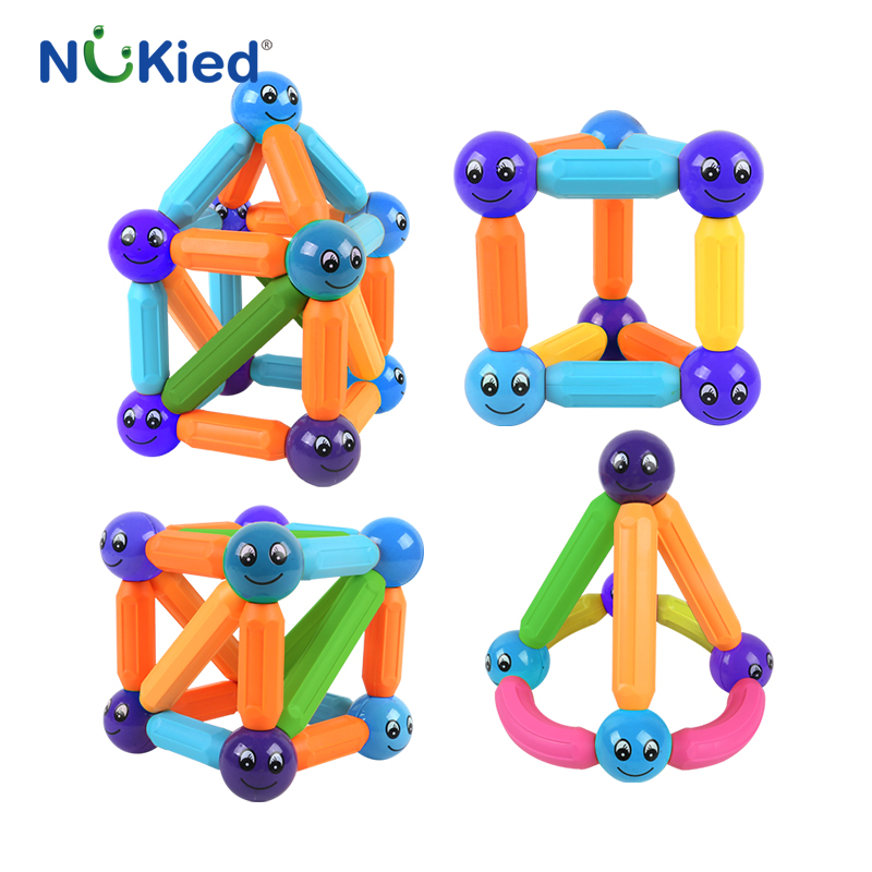Construction Toys For Preschoolers : Nukied kids bars metal balls magnet toy pcs magnetic