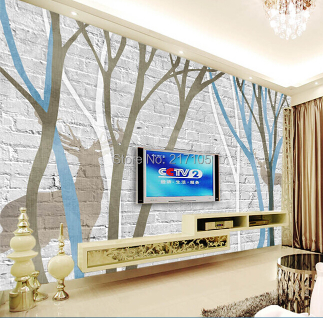 3D abstract tree brick wallpaper , custom large murals , living room TV backdrop bedroom papel DE parede customize wallpaper papel de parede star dimensional abstract painting abstract tree pachira 3d wallpaper free shipping4542