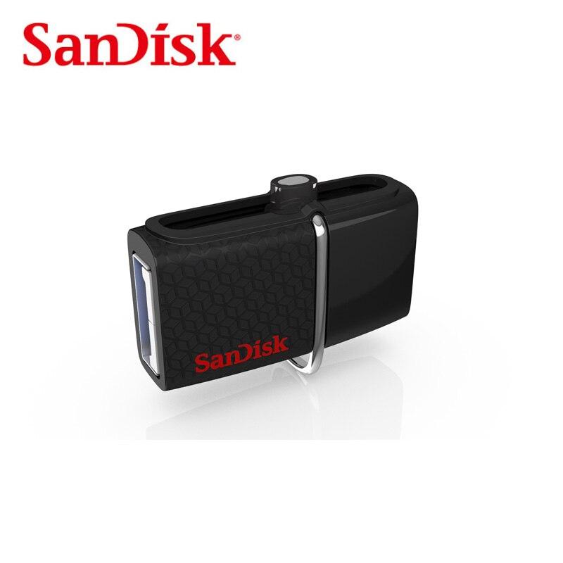 SanDisk Extreme Dual USB 3 0 OTG Flash Drive SDDD2 150M s 64GB For Smartphones Tablets