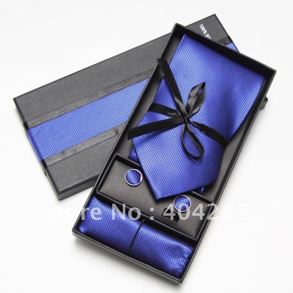 mens ties designer 4090  aliexpress com tie cufflinks hanky neckties blue men s; designer