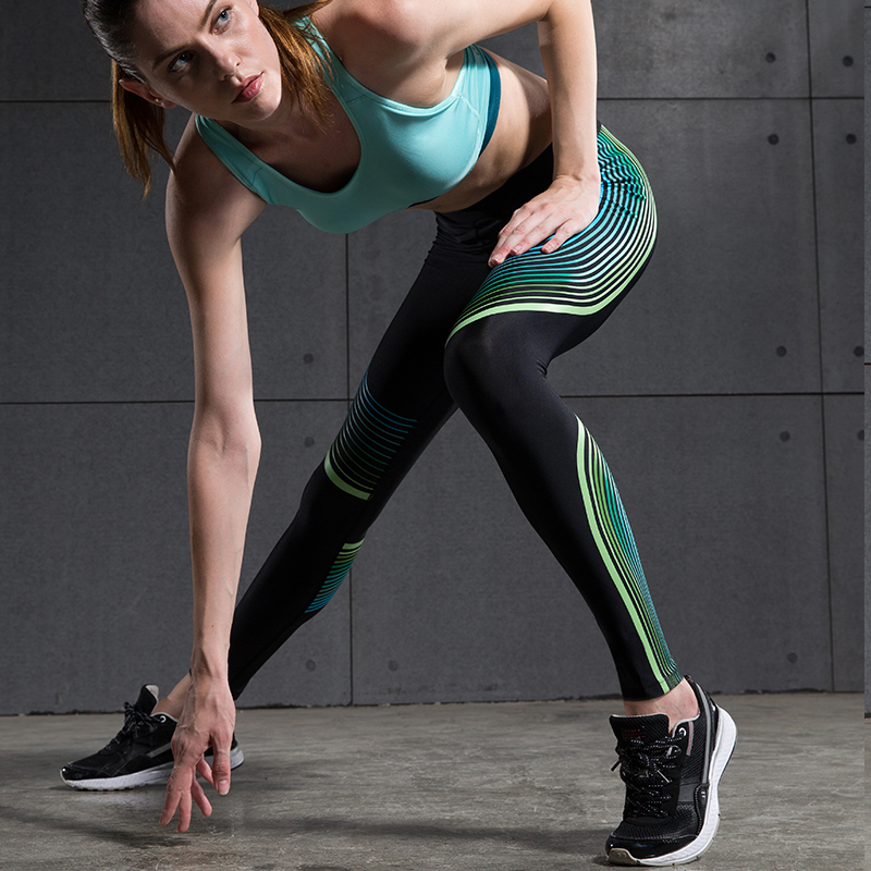 Brand Sex High Waist Stretched Sports Pants Gym Clothes -1112