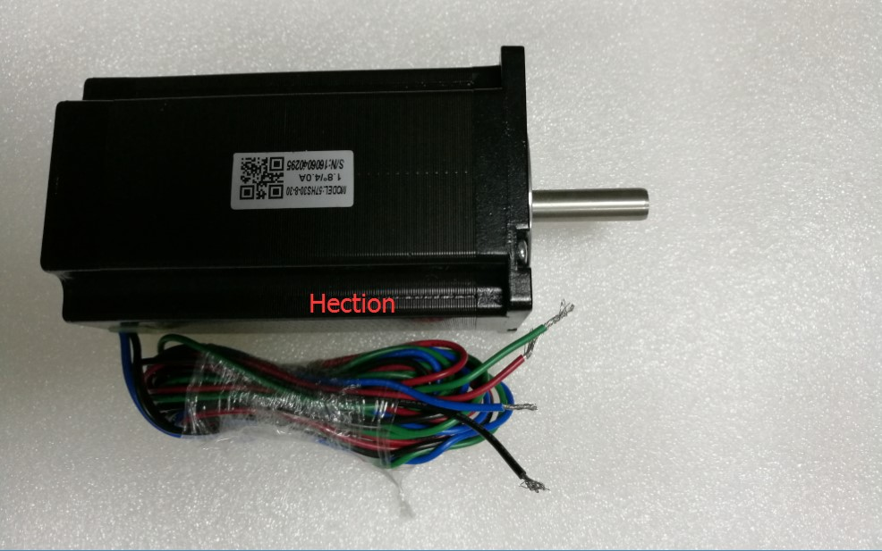New Leadshine two phase stepper motor 57HS30-8-30 NEMA 23 can output 3NM torque 4A current shaft 8mm long 30mm 4 wires CNC motor new double shaft motor nema 23 stepper