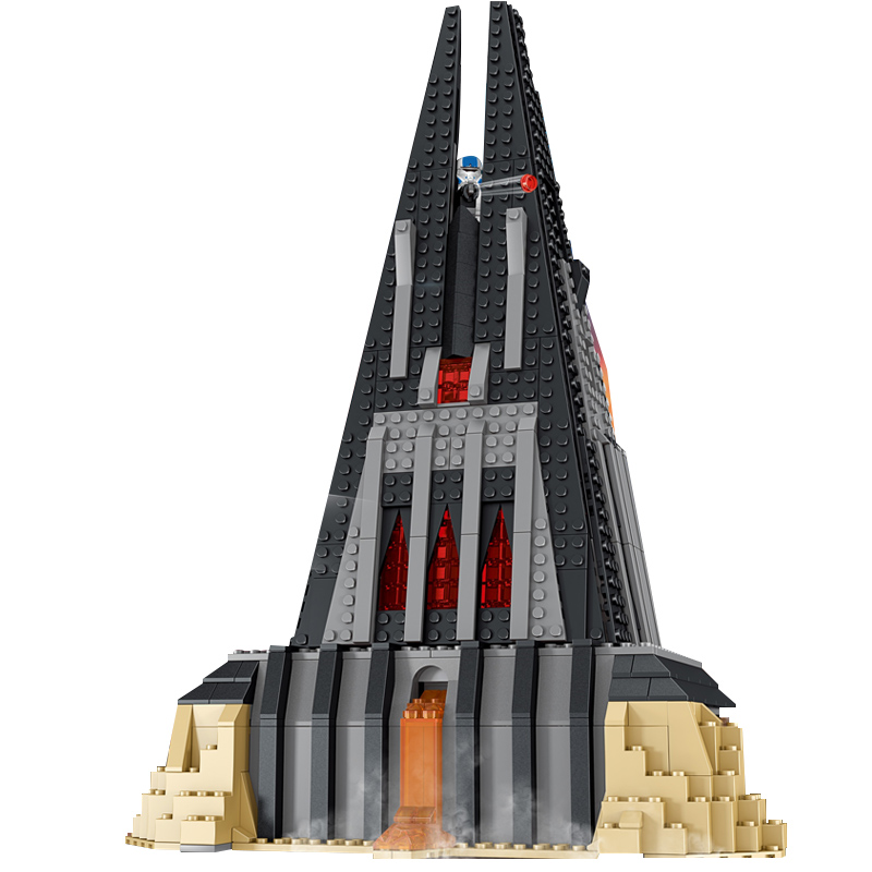 Star Compatible War Darth Vader s Castle TIE Advanced Fighter Building Blocks Bricks Kids Toys Birthday