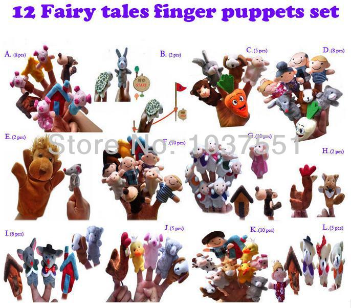 12sets Lot Finger Hand Puppet Nursery Rhyme Aesop Fables Fairy Tale Educational Learning Tool Kits Doll Toy For S And Boys In Puppets From Toys