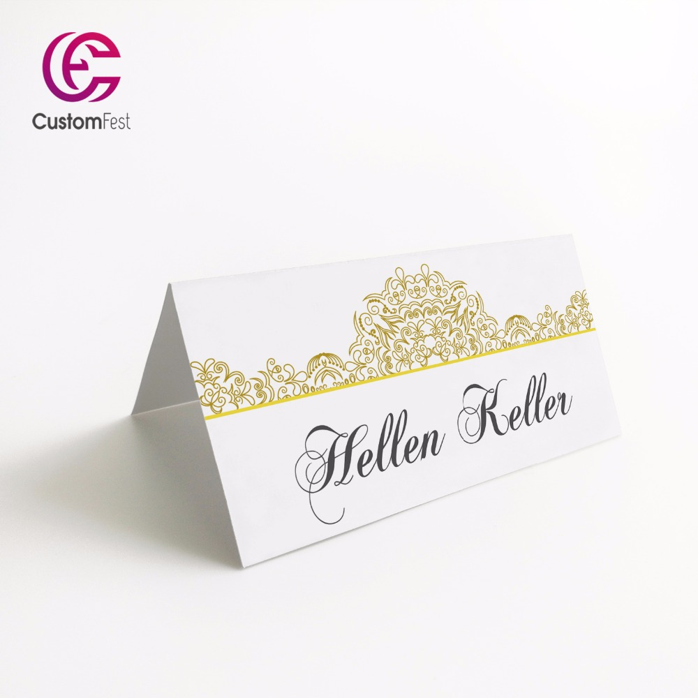 50pcs lot personalized place card name card for party and for Personalized wedding place cards