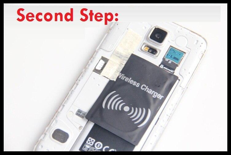 Qi receptor de carga inalámbrica para Samsung Galaxy S5 S4 S3 Note 4 3 2 adaptador inalámbrico Foto personalizada lámpara de Luna regalos personalizados para esposa niños luz de noche USB carga Tap Control 2/3 colores Luz de luna