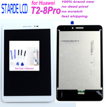 Starde LCD For Huawei Mediapad T2 8 Pro LCD Display Digitizer Screen Touch Panel Sensor Assembly T2-8Pro JND-AL00 JDN-W09 LCD replacement new lcd display touch screen assembly for huawei mediapad t2 7 0 lte bgo dl09 black 7 inch